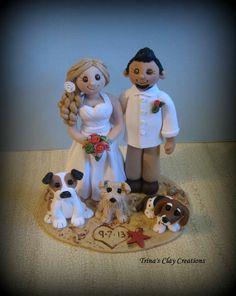 Beach Theme Wedding Cake Toppers | Beach Theme Wedding Cake Topper by Trina's Clay ... | polymer clay