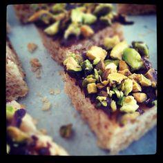 Delicious pistachio & chocolate rice crispy treats