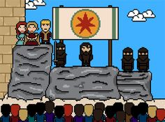 """Game Of Thrones""' 14 Most Brutal Deaths, As 8-Bit GIFs - s01e09"