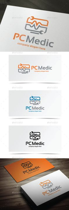 Computer Repair logo  AI, EPS, PSD files included  Font Used Sansation http://www.dafont.com/sansation.font