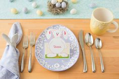 How to make handmade wedding table menu using avery c2318 printable just personalize the free peter cottontail printable on avery postcards cut around the top saigontimesfo