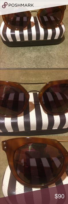 Henri Bendel Broadway sunglasses brown tortoise💄 Henri Bendel Broadway brown tortoise sunglasses excellent condition barely worn will come with famous Bendel striped case so chic and elegant thanks for peeping💄 henri bendel Accessories Glasses