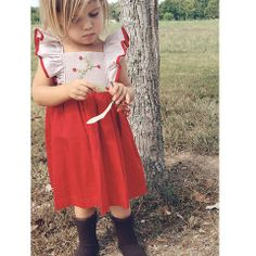 Winter Berries dress by Well Dressed Wolf ISO 12 or Girls Christmas Dresses, Girls Dresses, Flower Girl Dresses, Toddler Fashion, Kids Fashion, Girls Dream Closet, Well Dressed Wolf, Little Fashion, Cute Outfits For Kids
