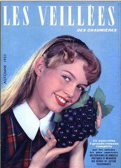 "The magazine ""Brigitte Bardot - Les Veillees Magazine [France] has been viewed 68 times. Bridget Bardot, Brigitte Bardot Young, Marlene Dietrich, Love Vintage, Vintage Beauty, American Exceptionalism, Animal Activist, Carole Lombard, Actrices Hollywood"
