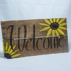 Hey, I found this really awesome Etsy listing at https://www.etsy.com/listing/223333191/welcome-sign-sunflower-art-rustic
