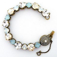 Sorrelli Riverstone Collection. An array of crystals in stunning neutrals create a summer bracelet for everyday sparkle, also a fab bridal bracelets.
