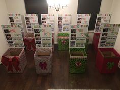 Wrapped boxes. Community Helpers, Community Service, Toys For Tots, Food Drive, Santas Workshop, Winter Christmas, Girl Scouts, Donation Boxes, Decorative Boxes