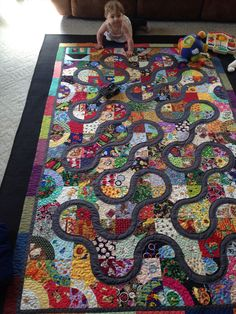 My eye spy quilt called road to nana and papa's