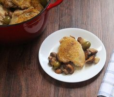 Whole Braised Chicken with Mushrooms #whole30 #lowcarb #paleo