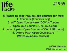 Free college courses