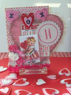 Kathy's Valentine Banner Valentine Banner, Valentine Ideas, Vintage Valentines, Love Valentines, Valentine Crafts, Saint Valentine, Bingo Cards, Multimedia, Altered Art