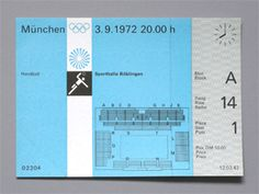 Munich Olympic Handball (Boblingen) Ticket, 1972