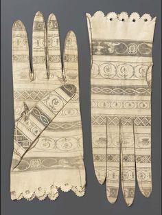 Печатные перчатки времен Ампира.: la_gatta_ciara