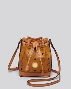 a0f3bbb33b7b MCM Heritage Drawstring Small Bucket Bag Handbags - Bloomingdale s. Mcm BagsCanvas  LeatherSmall ...