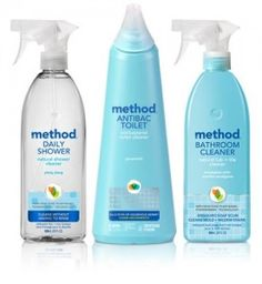 stop fearing your bathroom. armed with our antibacterial toilet cleaner and non-toxic, plant-based daily shower spray and tub + tile cleaner, you'll be ready to tackle soap scum, germs and whatever else your fixtur Green Cleaning, Cleaning Kit, Cleaning Supplies, Method Cleaning Products, Natural Cleaning Products, Daily Shower Spray, Natural Showers, Wood Floor Cleaner, Tub Tile