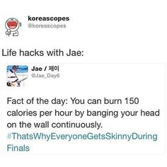 Omg thanks Jae for that educated response lol K Pop, Shinee, Jonghyun, Day6 Jae Twitter, Funny Tweets, Funny Memes, Nct, Jae Day6, Humor