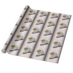American Bald Eagle Patriotic Art Wrapping Paper  $19.95  by ZazzleArt2015  - custom gift idea