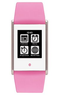 Touch Time Digital Watch with Pink Silicone Band