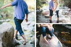 river wading in love. Photo by Let's Frolic Together.