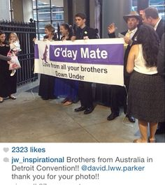 """Love from our brothers from """"Down Under"""" (AUSTRALIA)  at the 2014 International convention in DETROIT."""