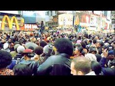 """Soul Train"" flash mob tribute to Don Cornelius - New York <3 <3 <3"