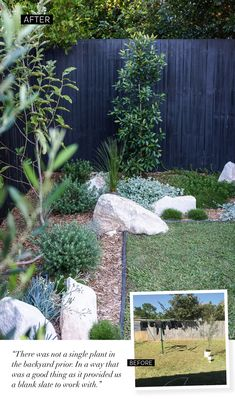 My Backyard Makeover (Adore Magazine) Australian Garden Design, Australian Native Garden, Garden Edging, Garden Beds, Fence Garden, Diy Fence, Fence Ideas, House Landscape, Landscape Design