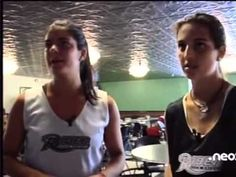 "Virginia Egusquiza and Marta Penas, Spanish field hockey players at Rider University, on Spanish TV's ""Mama tu no mires"""