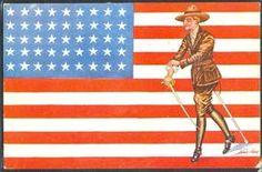 HC058 ART DECO a/s SAGER Les DRAPEAUX ALLIES SOLDAT FLAG Patriotique WWI  | En vente sur Delcampe