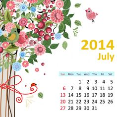 Blank July 2014 Calendar