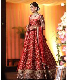 Pakistani bride in Dabyasachi Indian Bridal Outfits, Indian Bridal Lehenga, Indian Bridal Fashion, Indian Bridal Wear, Indian Designer Outfits, Indian Dresses, Asian Fashion, Wedding Lehnga, Desi Wedding Dresses
