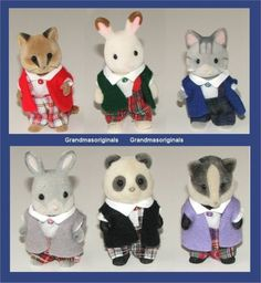 Sylvanian families clothes 1 TARTAN OUTFIT for BOY with JACKET - SEE SELECTION | eBay