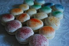 Rainbow flecked Macarons