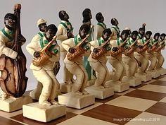 Jazz Hand Painted Theme Chess Set