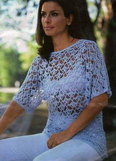 Une tunique d'été avec un point très aérien : c'est encore un très beau modèle pour l'été à faire en pull ou en robe de plage