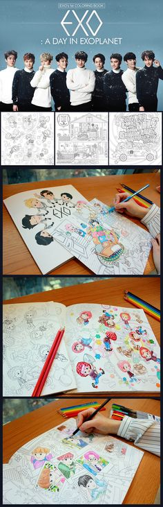 EXO A DAY IN EXOPLANET COLORING BOOK