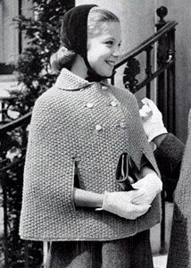 NEW! Cape knit patterns from Fashions & Fun for the Almost Teens, Bernat Handicrafter Book No. 59 from 1957.