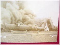 Train Wreck Postcard #1 - Pa Pennsylvania Railroad - Train Cars on Fire - Early 1900s Very Rare Real Photo RPPC Caulkins - FREE SHIPPING by FindMeTreasures on Etsy