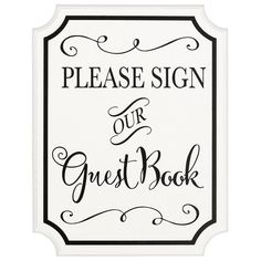 Guest Book MDF Sign With Easel