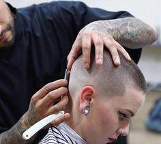 Beautiful bald fade buzz