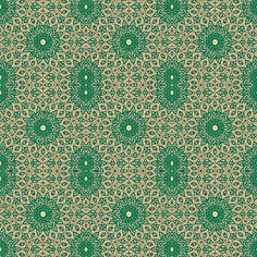 Indian Inlay Green fabric by amyvail on Spoonflower - custom fabric.  Lovely for tops and dresses.