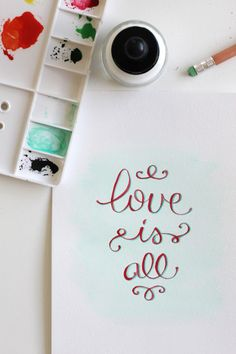 love is all--- love the type