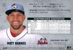 2015 Choice Pawtucket Red Sox #17 Matt Barnes Back