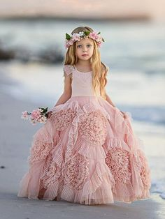2b9ac46d5 Blush Pink Cute Cheap Vintage Flower Girl Dresses GTE2121#promdress #prom  #promdresses Baby