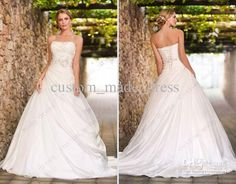 Wholesale Sweetheart Wedding Dress Beaded Empire Waist Bodice Handmade Flower Ball Gown Ruched Organza 5615, Free shipping, $148.96~154.99/Piece | DHgate Mobile