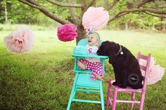Adorable cake smash photo session with their dog! ♡ Child / Family / Pet Photography | Baby | Baby's 1st Birthday Photoshoot Idea | Prop Ideas