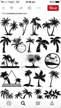 Plam trees tattoos