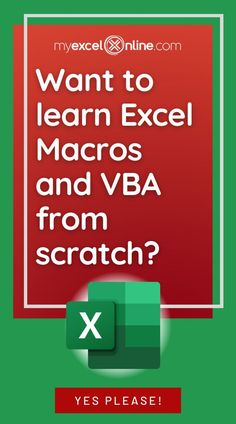 The 101 Ready to Use Excel Macros e-book is finally here! You get ready to use Excel Macros and downloadable Workbooks with solutions for you to practice your skills! The Macros will save you hours in your everyday work! This e-book is from #MyExcelOnline | Microsoft Excel Formula Tips + Tutorials | #Excel #MSExcel #MicrosoftExcel #EBook #ExcelforBeginners #Macro Microsoft Applications, Microsoft Excel Formulas, Microsoft Word, Learn To Code, Skills To Learn, Excel Macros, Excel For Beginners, Excel Budget Template, Software Projects