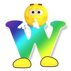 Letter W Alphabet Smiley Monogram Face Emoji Shirt for Men Women Kids Art Print by minimalisteez Abc Alphabet, Alphabet And Numbers, Public Domain, Free Emoji Printables, Emoticon Faces, Smiley Faces, Das Abc, Emoji Love, Smiley Emoji