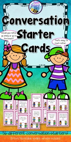 This pack of conversation cards offers a range of topics that may be used for speaking and listening or as writing prompts. Use in paired conversations, small group work and whole class discussion. For younger children it may be necessary to model a conversation between two people and give them strategies to keep the conversation going: asking good questions, adding information, active listening, turn taking, respecting others opinions etc.