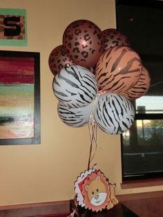 Zoo theme party- balloons, easy décor  saratoma park